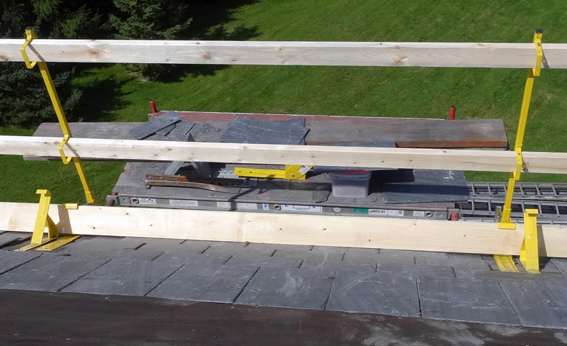 Safety Rail Roof Brackets Gt Fall Protection Gt Slate Roof