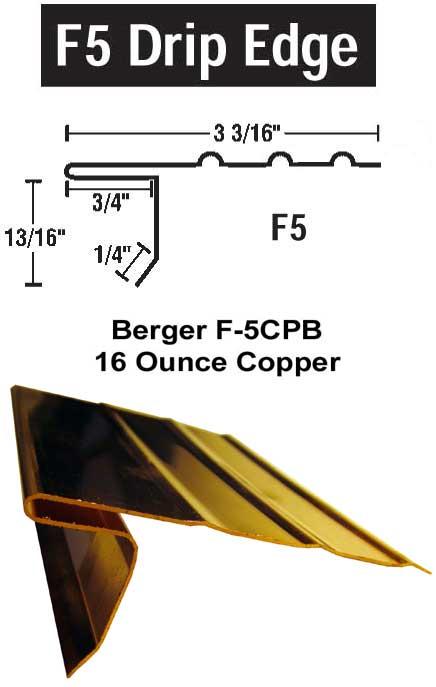 F 5cpb Copper Drip Edge Gt Drip Edges Gt Slate Roof Warehouse