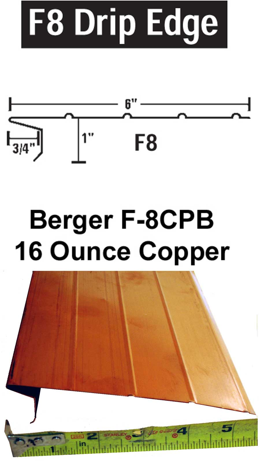 F 8cpb Drip Edge Carton Gt Drip Edges Gt Slate Roof Warehouse