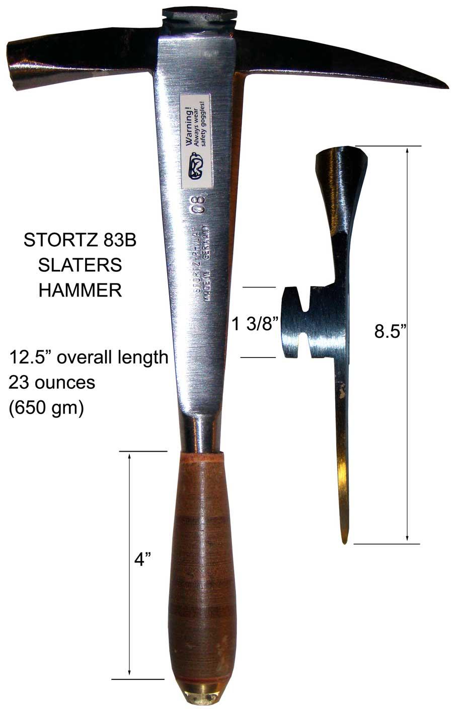 Stortz 83b Slate Hammer Gt Slate Hammers Gt Slate Roof Warehouse