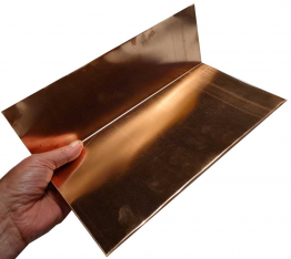 Step Flashings - 16 ounce copper - 5 X 5 X 8 inches long - 50 pieces