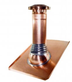 German Copper Vent Pipe Flashing for Roofs, Copper Base for 3, 4 or 5 inch pipes