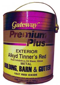 Paint for Roofers - Tinners Red - 4 Gallon Case