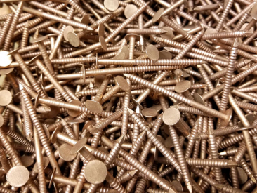 Copper Ring Shank Roofing Nails 25 lbs