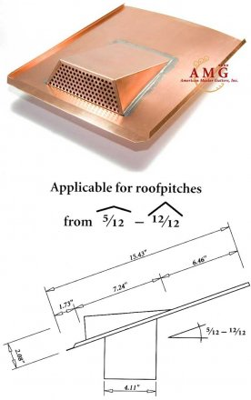 Copper air vent for roofs, made in Germany sold at the Slate Roof Warehouse.