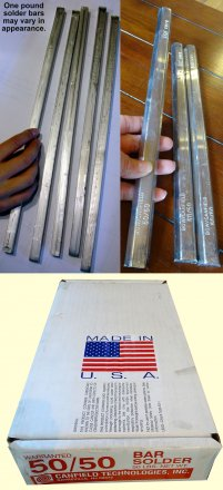 50 Pound Box of 50:50 Bar Solder with Free Shipping