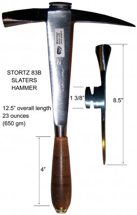 Stortz Right or Left Handed Slate Hammer
