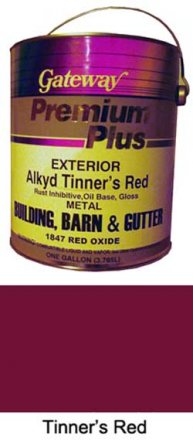 Paint for Roofers - Tinners Red - 4 Gallon Case sold at the Slate Roof Warehouse.