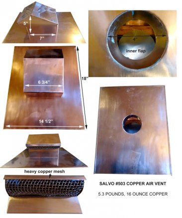 Salvo #503 Copper Roof Vent